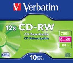 Verbatim CD-RW 12x 10 stk.