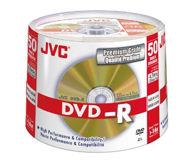 JVC DVD-R 16X 4,7GB 50 stk. Spindel