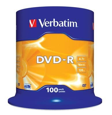 Verbatim Verbatim DVD-R 16x 4,7GB 100 stk.