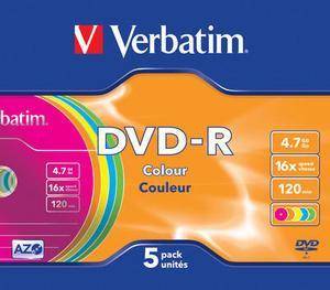 Verbatim DVD-R 16X 5 stk. Slimcase