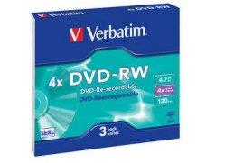 Verbatim DVD-RW 4x Data 3 stk.