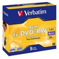 Verbatim DVD+RW 4x 1,4GB 8cm 5 stk