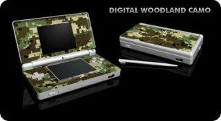 Nintendo DS Lite Skin - Digital Woodland Camo
