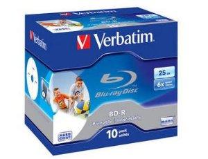 Verbatim BD-R 6X 25GB Printable 10 stk.