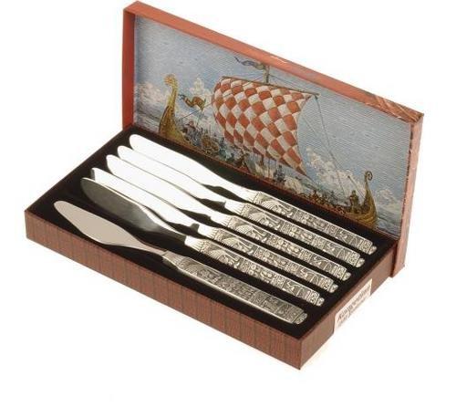 Hardanger Bestikk Kongetinn spisekniver 6 stk