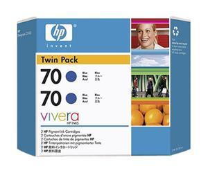 HP no.70 Twin Pack - Blå
