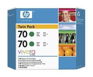 HP no.70 Twin Pack - Grønn