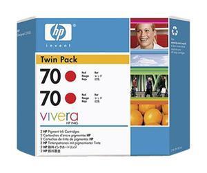 HP no.70 Twin Pack - Rød
