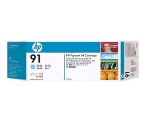 HP no.91 Pigmentert Lys Cyan