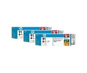 HP no.91 3-pack - Matt Svart