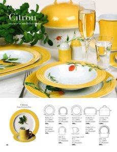 Porsgrund Citron Tallerken Flat 27 cm