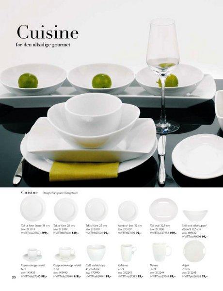 Porsgrund Cuisine Tallerken Flat 28 cm