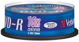 Verbatim DVD-R 16x 4.7 GB 25 stk.