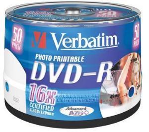 Verbatim DVD-R 16x Printbar 4.7 GB 50 stk.