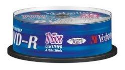 Verbatim DVD-R 16x Printbar 4.7 GB 25 stk.