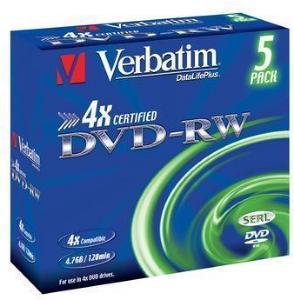 Verbatim DVD-RW 4x 4.7 GB 5 stk.