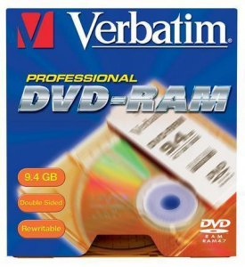 Verbatim DVD-RAM 9.4GB 5 stk.