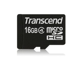 Transcend MicroSDHC Class 4 - 16 GB