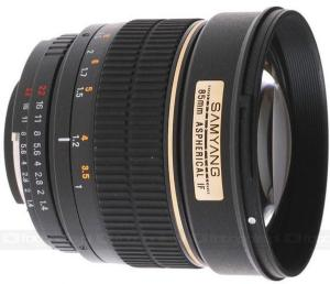 Samyang 85mm F1.4 Aspherical IF for Sony Alpha