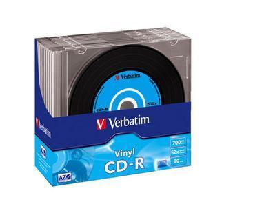 Verbatim CD-R 52x 700MB Vinyl AZO 10stk. Slim