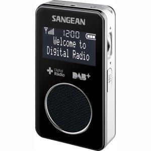 Sangean DPR-34 DAB+ lommeradio, Sort