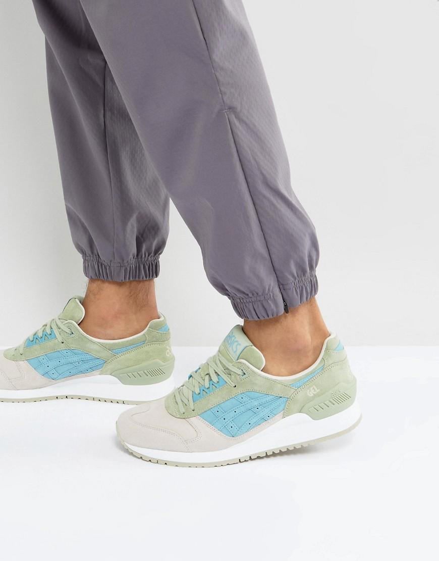 Asics Gel Respector Trainers In Green HL7204040