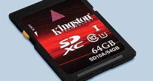 64GB SDXC-kort fra Kingston