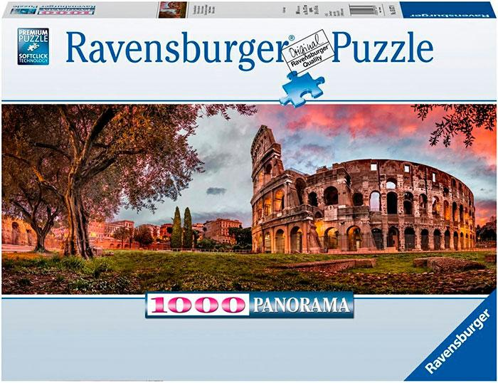 Colosseum in Evening Light 1000 biter Ravensburger Puzzle Panorama Puslespill