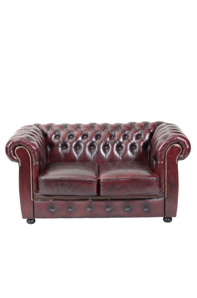 Ellos Chesterfield 2-seter London Unisex Okseblod