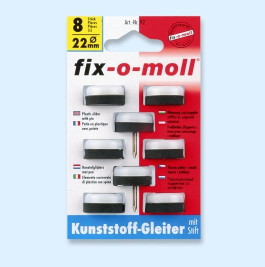 FIX-O-MOLL MØBELKNOTT PLAST 22MM