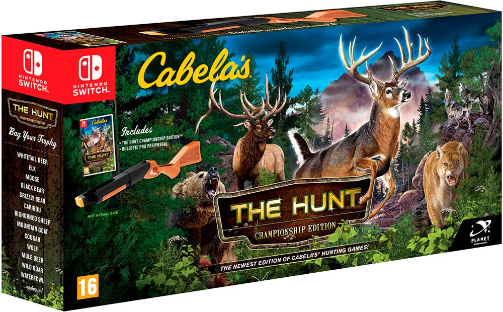 Cabelas The Hunt Bundle Switch Championship Edition m/ spill + rifle