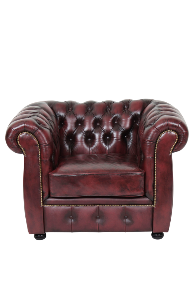 Ellos Chesterfield lenestol London Unisex Okseblod