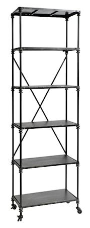 Nordal Iron rack with shelves