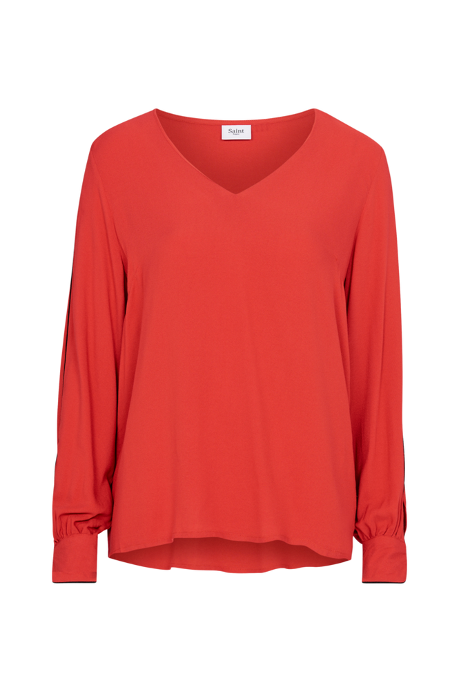 Saint Tropez Bluse Women Red
