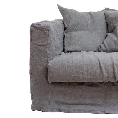 Le Grand Air Loveseat trekk, Smokey Granite