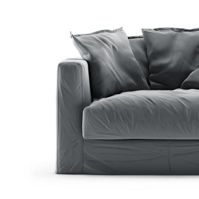 Le Grand Air Loveseat fløyel trekk, Granite