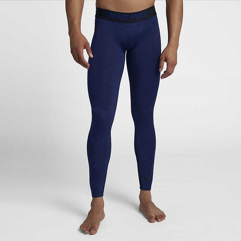 Nike Pro Dri-FIT Therma tights til herre - Blue Male Men > Clothing > Compressions & Nike Pro S