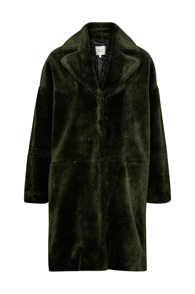 Second Female Fuskepels Coat Myra Women Rifle green