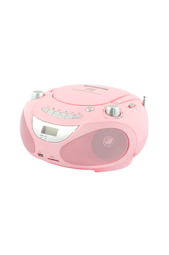Champion Boombox CD/Radio/MP3/USB Pink ABB200P Unisex