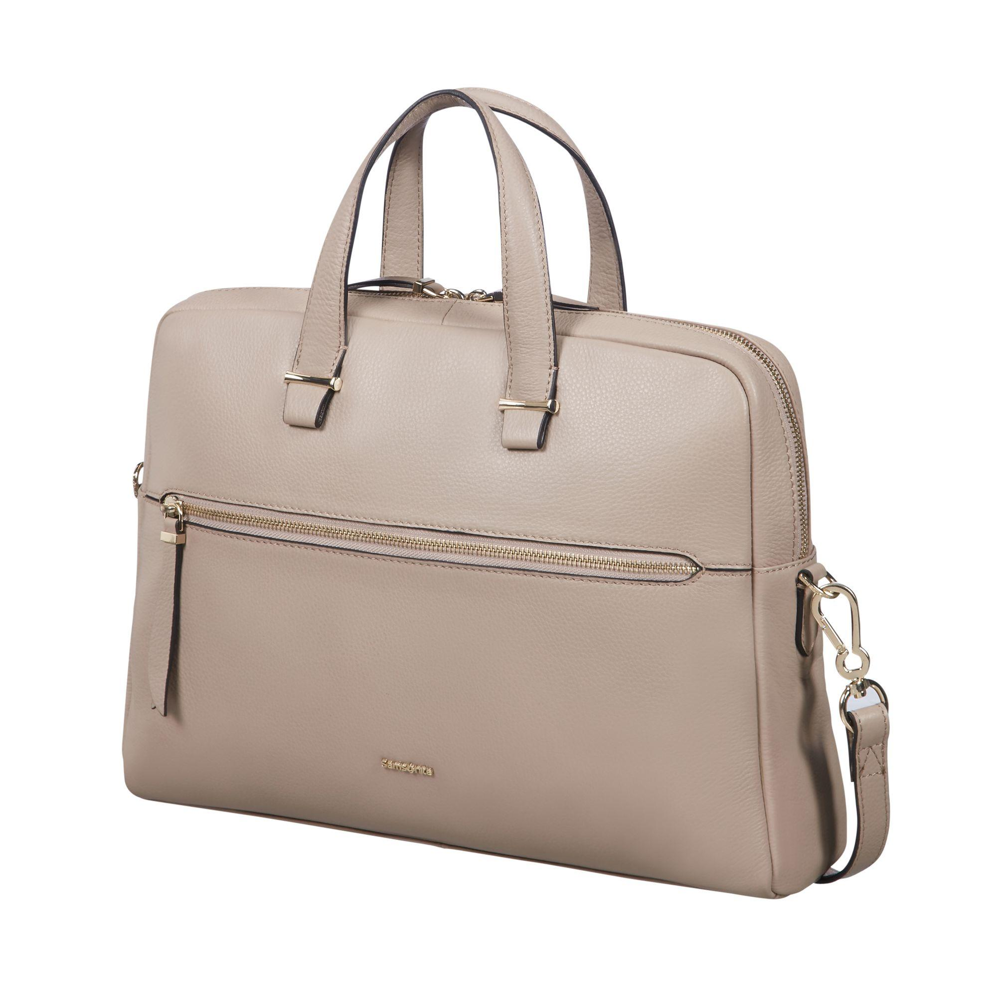 Samsonite Highline II pc mappe til dame, 14,1 tommer, Beige Samsonite