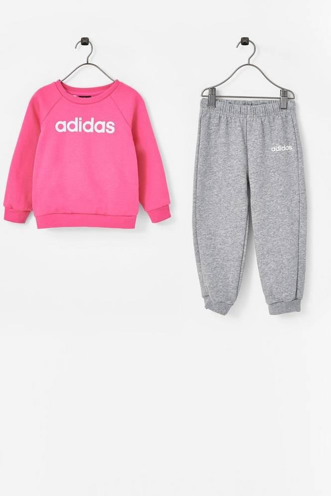 41b309d3 adidas Sport Performance Joggedress Linear Fleece Jogger Set Unisex Semi  solar pink/white