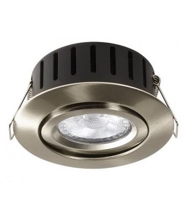 RAMO El-Engros AS LED Charon 75 IsoLed Antiglare 5W Warmdim 2200K-3000K Børstet Stål IP44