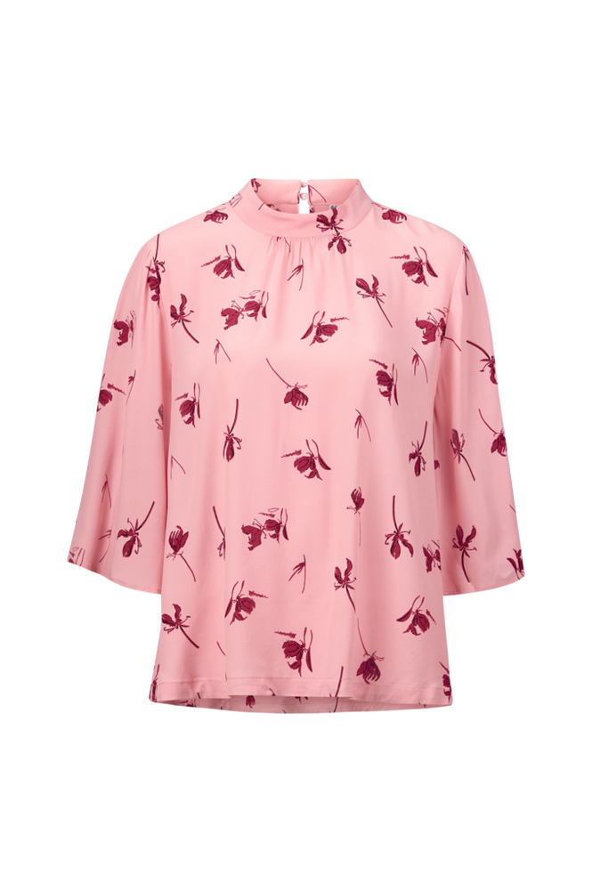 Saint Tropez Bluse Flower Print Women Party rose