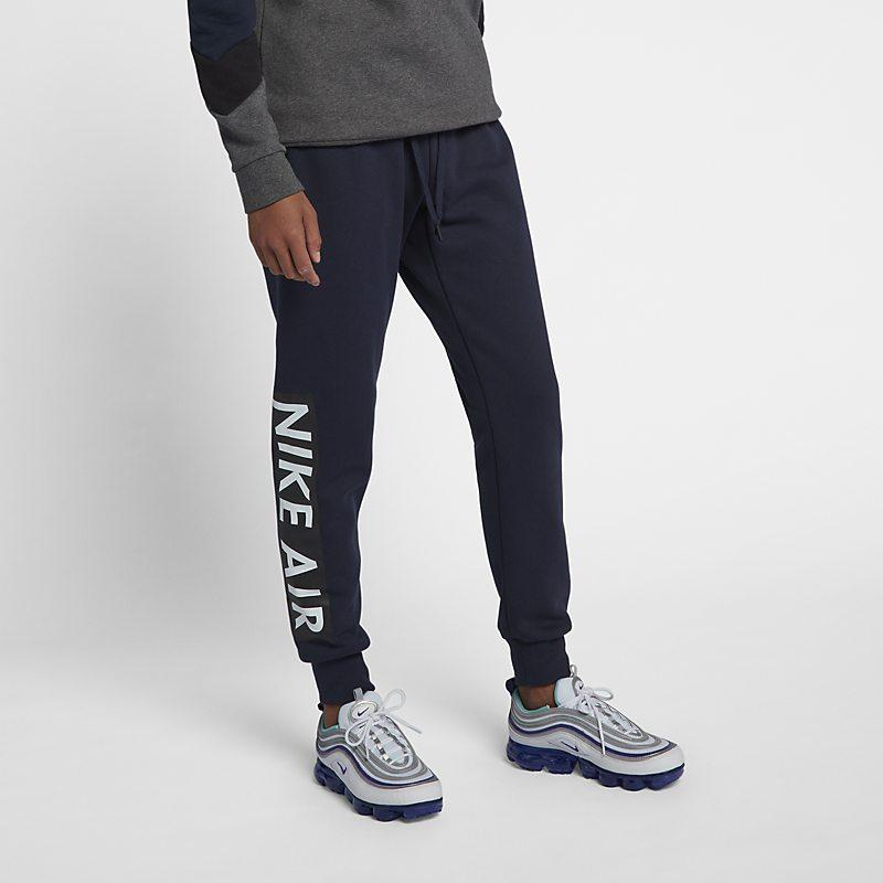 Nike Air fleecebukse for herre - Blue Male Men > Clothing > Trousers & Tights M