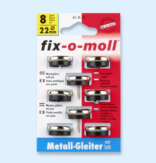 FIX-O-MOLL MØBELKNOTT METALL 22MM