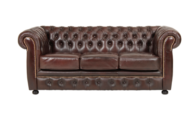 Ellos Chesterfield 3-seter London Unisex Brun