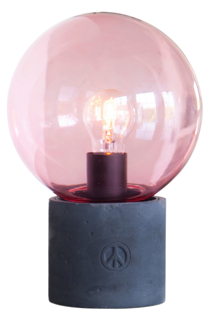By Rydéns Bordlampe Peacebubbles Unisex Rosa