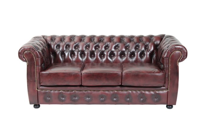Ellos Chesterfield 3-seter London Unisex Okseblod