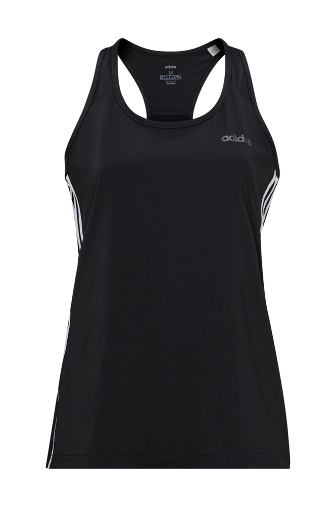 adidas Sport Performance Treningstrøye Design 2 Move 3-stripes Tank Top Women Black