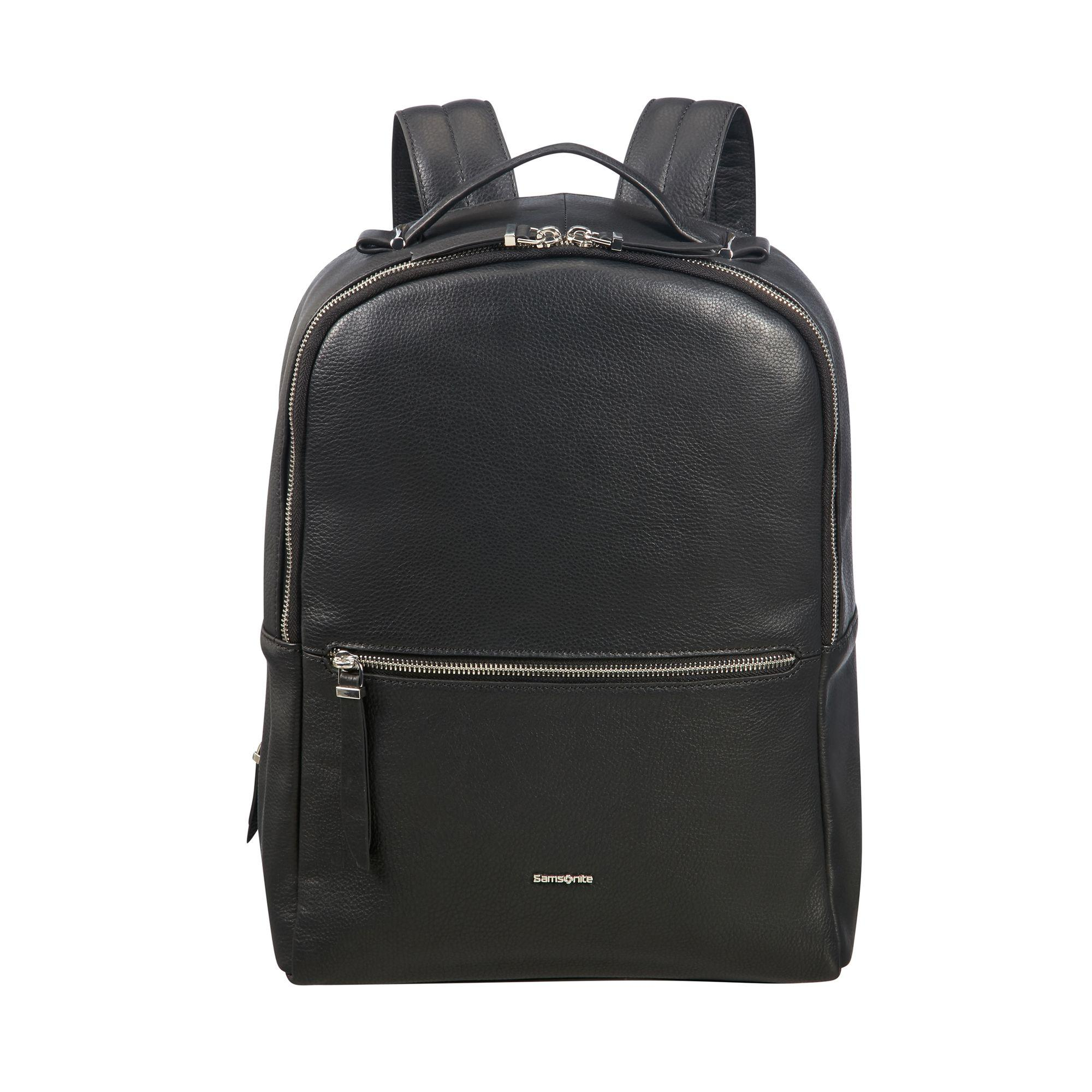 "Samsonite Highline II pc ryggsekk i skinn 14,1"", Svart Samsonite"